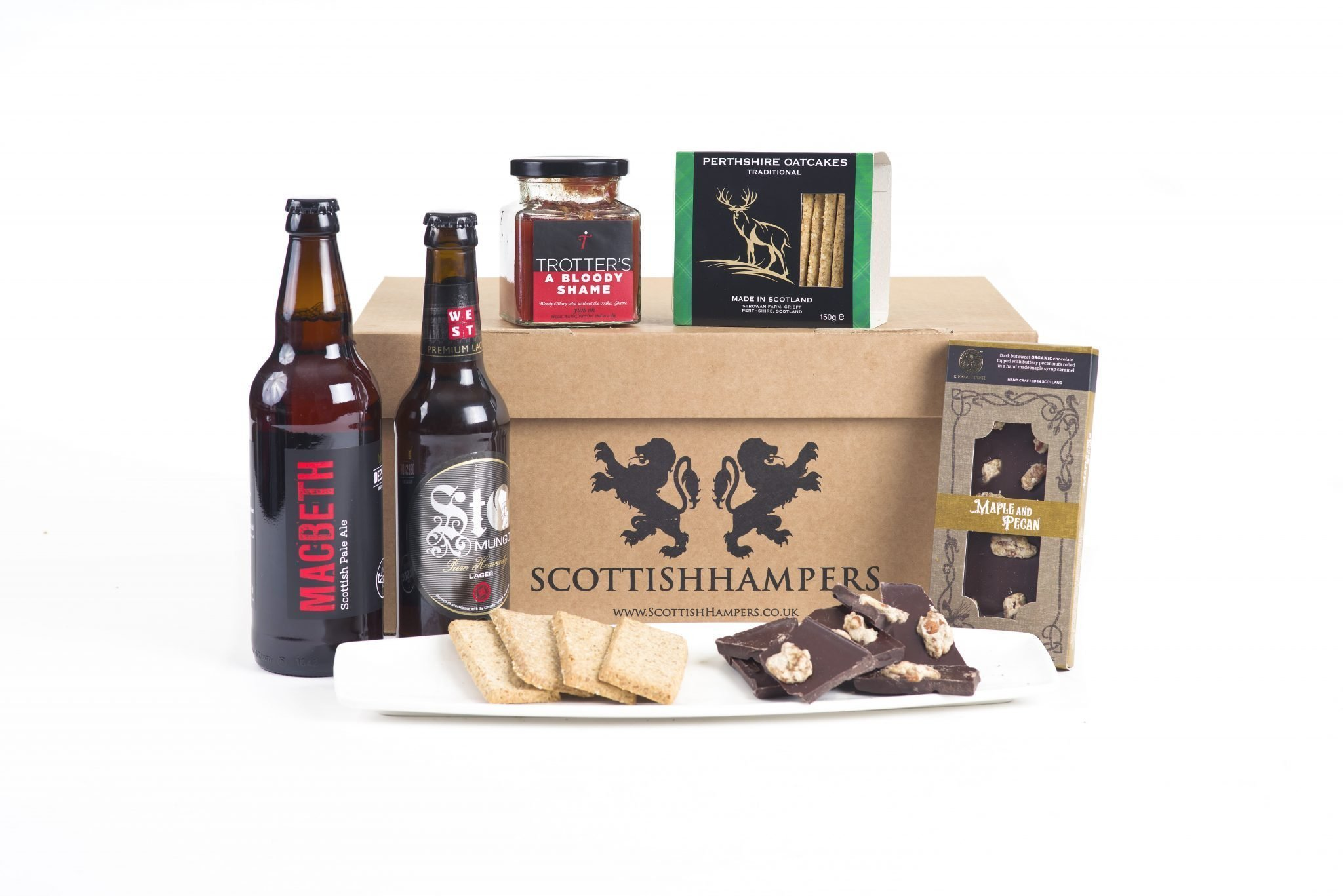 Food Hamper With Beers And Food