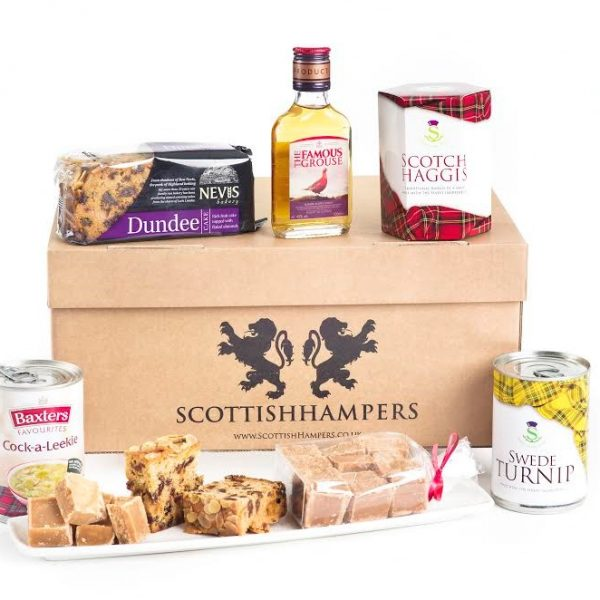 scottish hampers with dundee cake