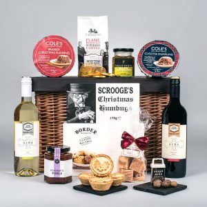 Christmas Food Hamper With WIne