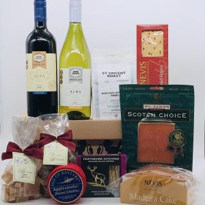 Luxury Scottish Hamper with Cheese, Wine and Treats