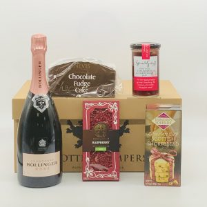 Luxury Scottish Hamper with Champagne and Chocolate