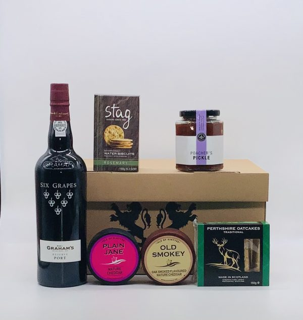 Luxury Scottish Hamper with Cheese and Port