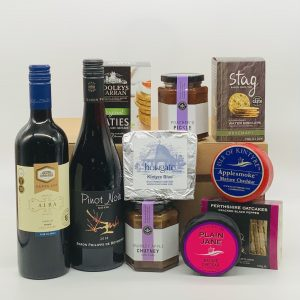 Luxury Scottish Hamper with Cheese and Wine